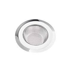 Sjeware Kitchen Sink Strainer Heavy-Duty Stainless-Steel Drain Basin Basket Filter Stopper Drainer Jali, 9.5cm