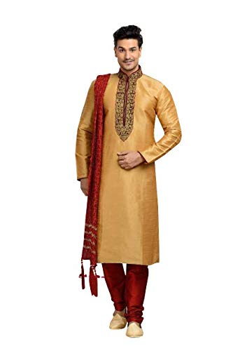 Paridhanlok Men's Crush Silk Dupatta Stole