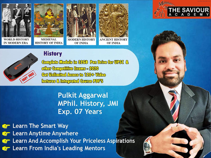 History Videos & PDF's Pen Drive Course for UPSC & Other Competitive Exams