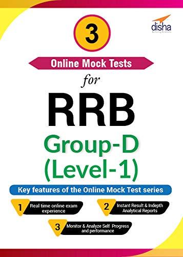 Disha Publication 3 Online Mock Tests for RRB Group-D