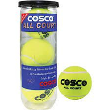 Cosco All Court Tennis Ball, Pack of 3 (11004)