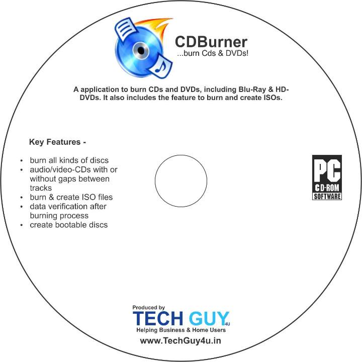 TechGuy4u CD DVD Burning Software