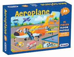 Frank 15 Pieces Floor Puzzle for 3 Year Old Kids and Above (Aeroplane)