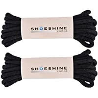 Shoeshine 2 Pair Round Boot Lace Casual, Hiking Shoelace 4mm Thick Shoe Laces
