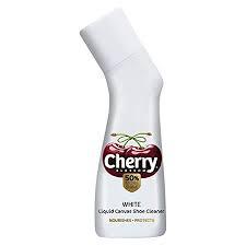 Cherry Blossom Liquid Canvas Shoe Cleaner, White - 75ml   50% More Shine
