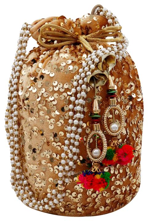 Ailtino Women Velvet Potli Bags