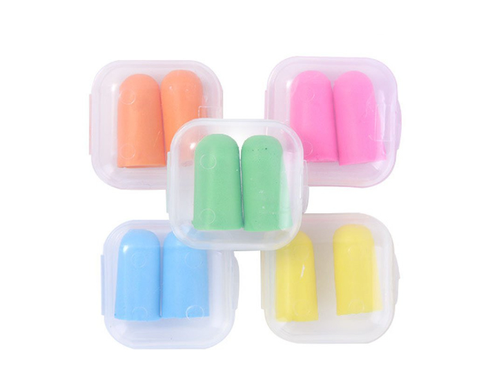 Mollensiuer 10 Pairs Assorted Color Soft Ear Plugs