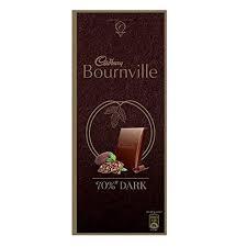 Cadbury Bournville Rich Cocoa 70% Dark Chocolate Bar, 3 x 80 g