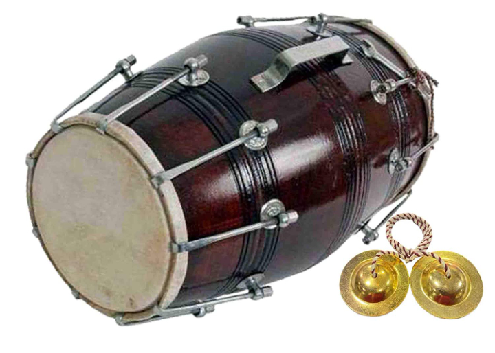 GT manufacturers Wooden Musical Instrument Dholak