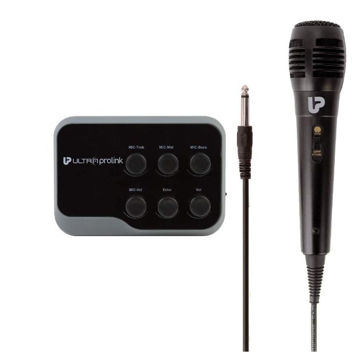 UltraProlink UM1002 Sing Along Karaoke Bluetooth Mixer with Karaoke Microphone