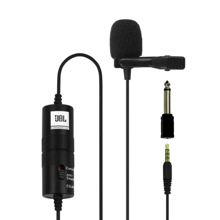 JBL Commercial CSLM20B Omnidirectional Lavalier Microphone