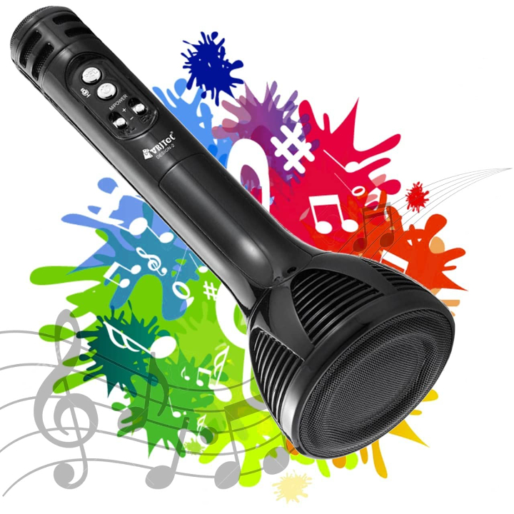 VRJTEC Design 2 Wireless Bluetooth Karaoke Microphone